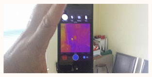 Mold Inspection San Antonio FL Thermal Image